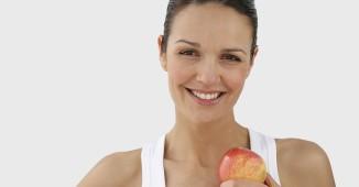 comida sana manzana