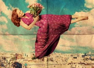 mujer y primavera