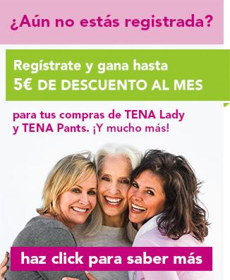 Date de alta en el Programa de puntos TENA Lady