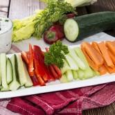 Un aperitivo sano y colorido: las crudités